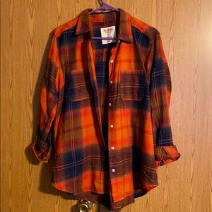 5/$25 Orange and Navy Flannel